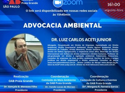 Palestra On Line: Advocacia Ambiental