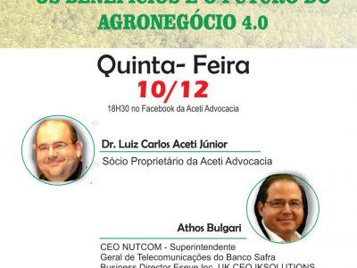 Live: Os Benefícios e o Futuro do Agronegócio 4.0