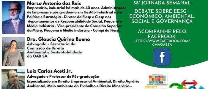 Live 30/04/2021 – 38ª OAB Santo André/SP – Tema: EESG